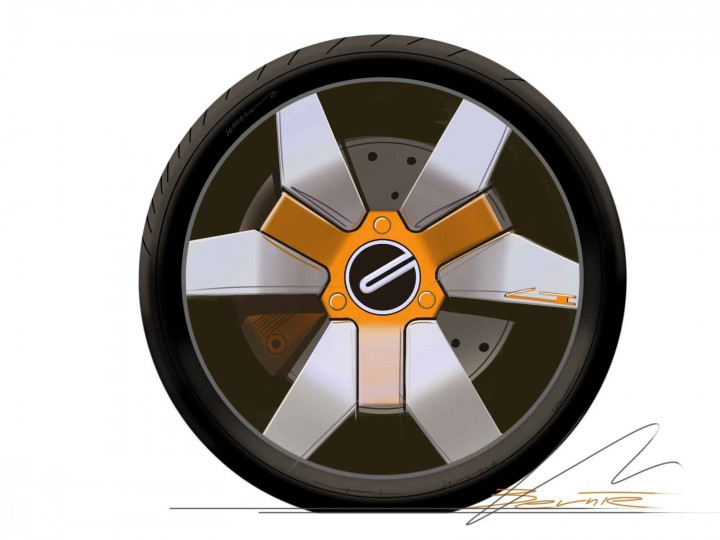 Car Wheel Concept Sketch