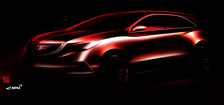 2014 Acura MDX Concept Preview Design Sketch