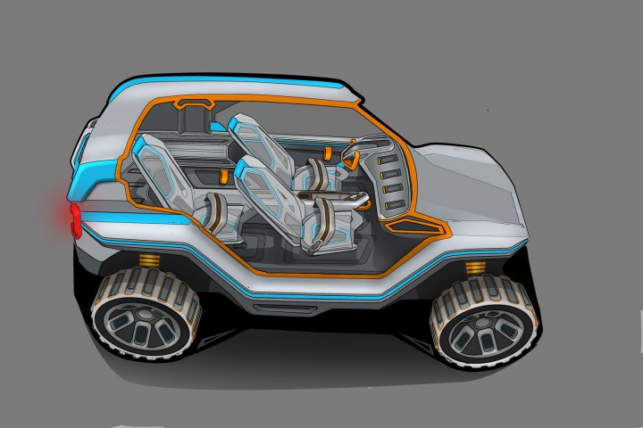 Alpine Utility Vehicle Concept - Design Sketch