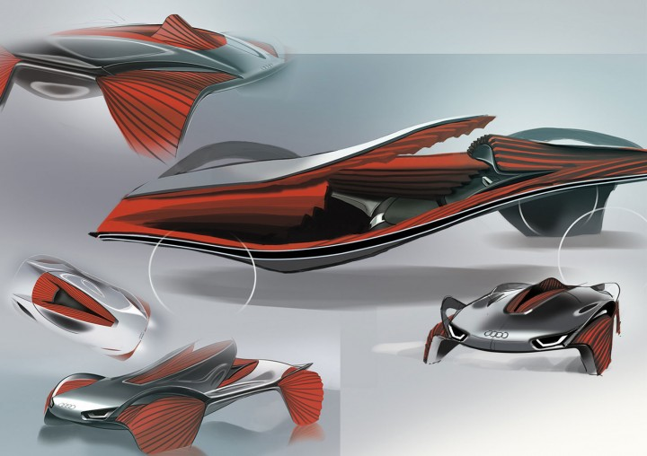 Audi Epiphany Concept Sketches by RCA students Shihan Pi and Yjing Zhang