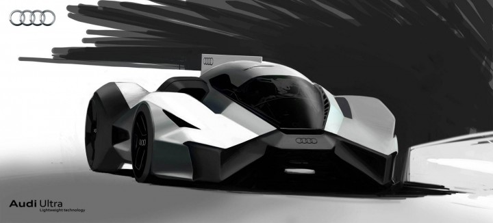 Audi Wood Aerodynamics Concept by Pavol Kirnag - Design Sketch