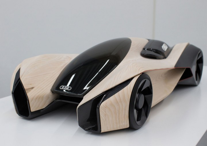 Audi Wood Aerodynamics Concept by Pavol Kirnag - Scale model