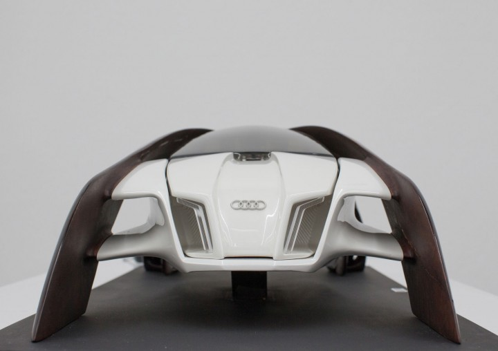 Audi Wood Aerodynamics Concept by Robert Mucska - Scale model