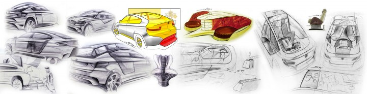 BMW ActiveHybrid X6 Popemobile Concept - Design Sketches