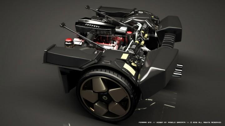 ferrari gte concept car body design