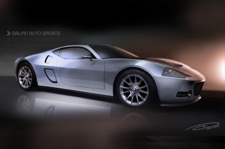 GAS GTR-1 Supercar Design Sketch