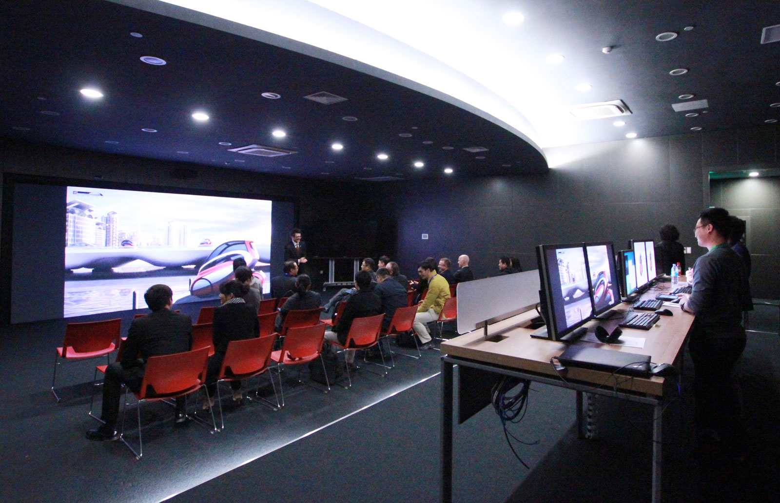 Gm china advanced design center virtual reality room for Room design vr