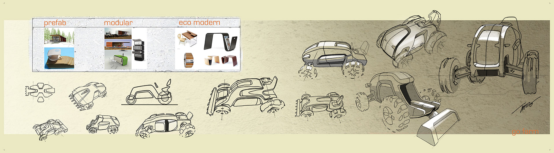 Honda Kit Trac Concept - Design Sketches
