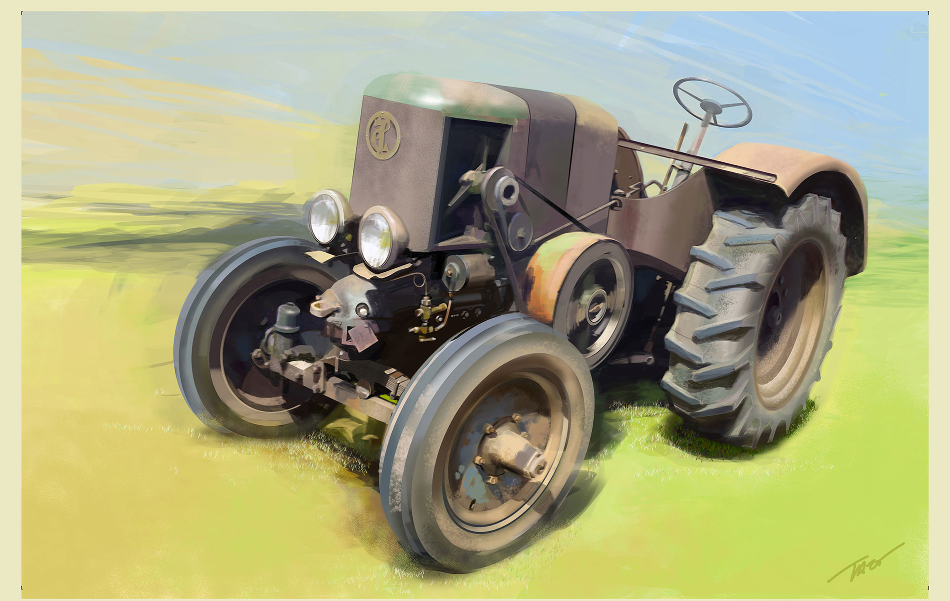 Honda Kit Trac Concept - Digital Painting