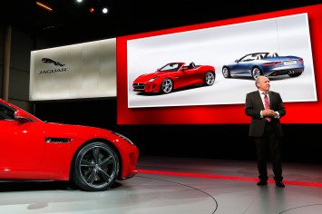Ian Callum presents the F Type at Paris