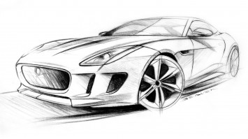 Jaguar C-X16 Concept - Design Sketch
