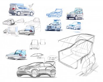 Lexus RX 450h Popemobile Concept - Design Sketches
