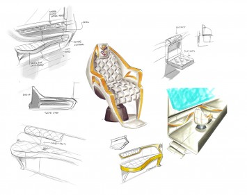 Lexus RX 450h Popemobile Concept - Interior Design Sketches