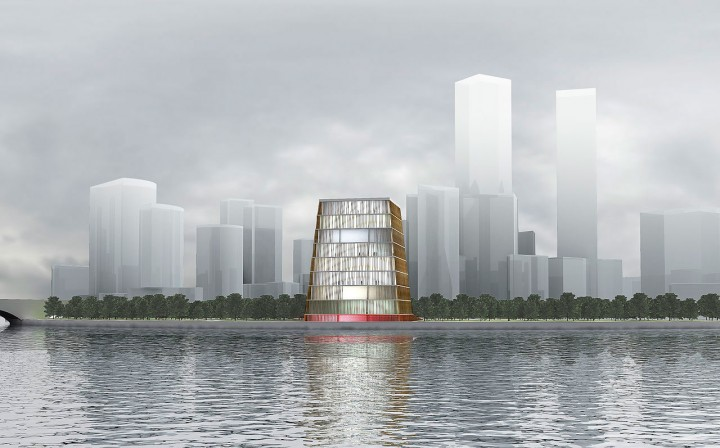 President Center Project by architect Boris Bernaskoni