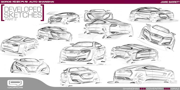 Qoros Flagship Concept - Exterior Development Design Sketches