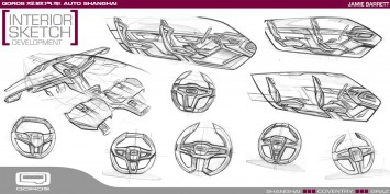 Qoros Flagship Concept - Interior development design sketches