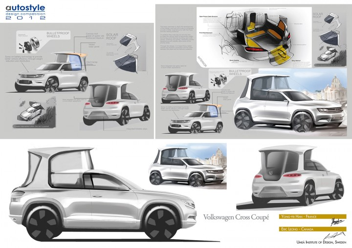 Volkswagen Cross Coupe Popemobile Concept Design Board