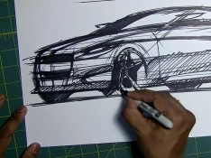 Car-Sketching-with-Sharpie-marker