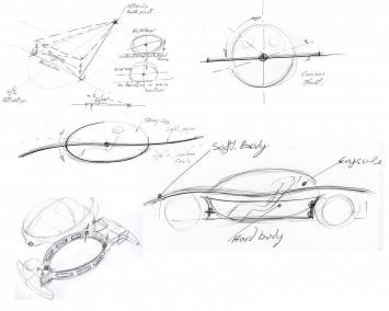Cardane Concept Ideation Sketches by Paolo Martin
