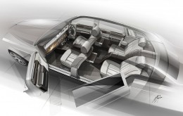 Rolls-Royce Bespoke Collection - Interior design sketch