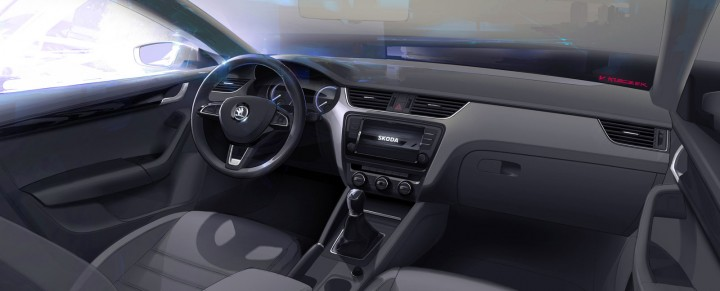 Skoda Octavia - Interior Design Sketch