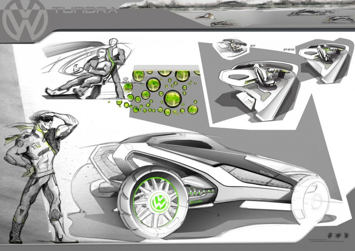 Volkswagen Tundra in Motion Concept-Design Board