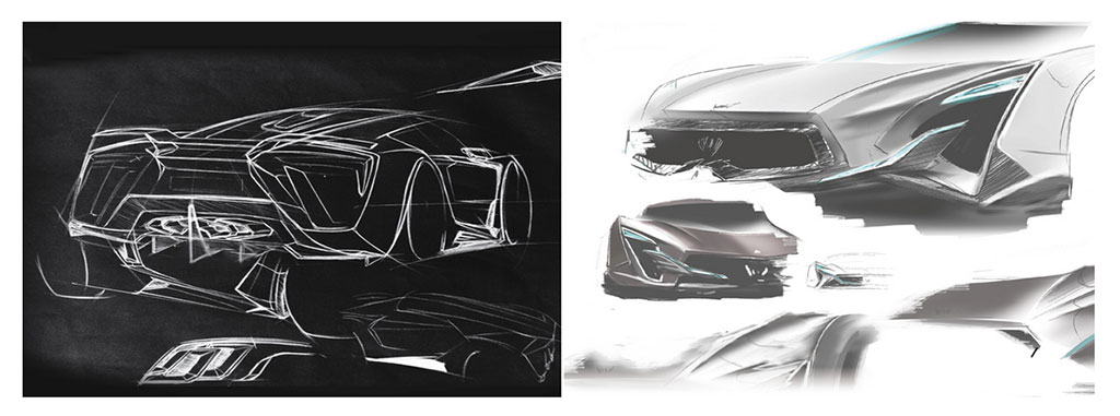 W Motor Lykan Design Sketches