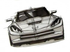 2014-Corvette-Stingray-Design-Sketch---Front-view