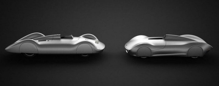 Audi Stromlinie 75 Concept and the 1938 Auto Union Type C