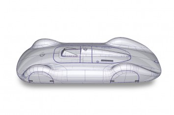 Auto Union Type C - 3D NURBS model