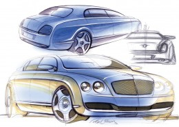 Bentley Continental Flying Spur - Design Sketches