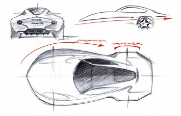 Disco Volante Concept 2012 Design Sketches