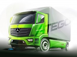 Mercedes-Benz Atego truck - Design Sketch