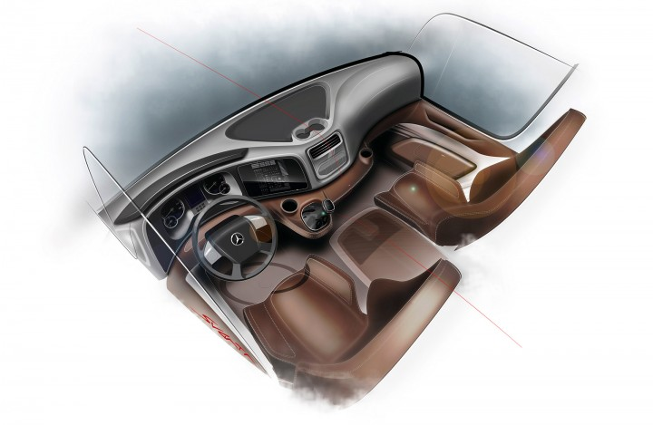 Mercedes-Benz Atego truck - Interior Design Sketch