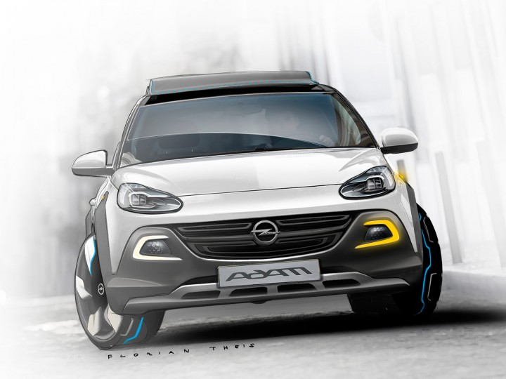 Opel Adam Rocks Concept: preview sketches