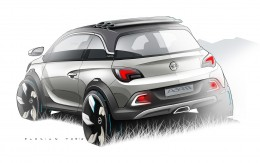 Opel Adam Rocks Concept Design Sketch