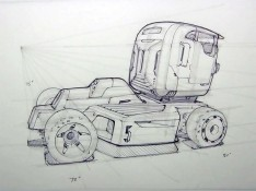 Sci--fi-semi-truck-sketch-by-Scott-Robertson