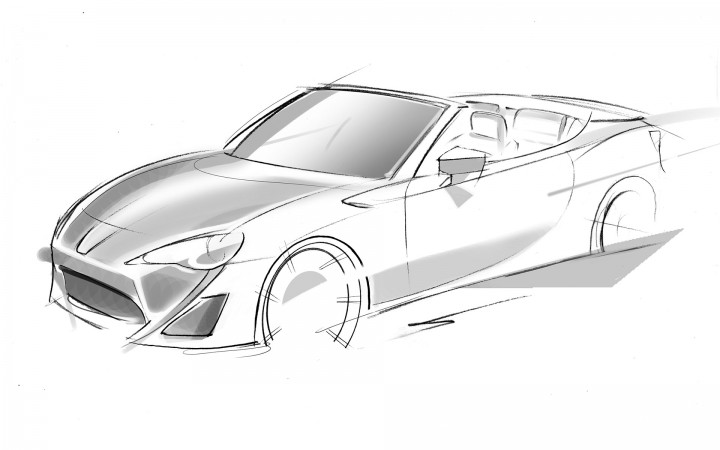 Toyota FT-86 Open Concept - Design Sketch