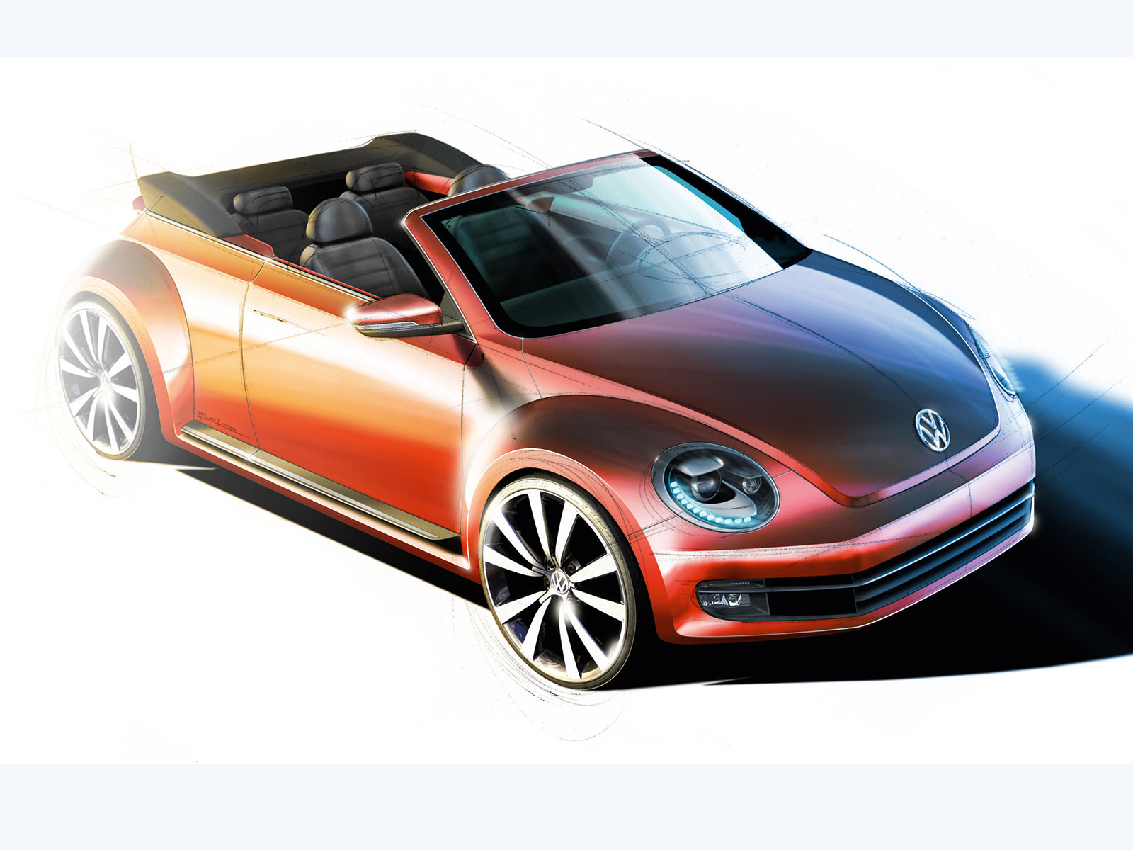 volkswagen beetle cabriolet design sketch car body design. Black Bedroom Furniture Sets. Home Design Ideas