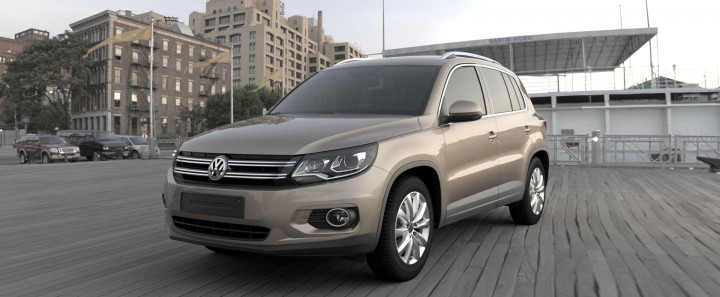 Volkswagen Tiguan rendered with Total Materials Capture Technology