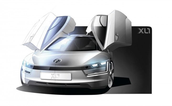 Volkswagen XL1 Concept - Design Sketch