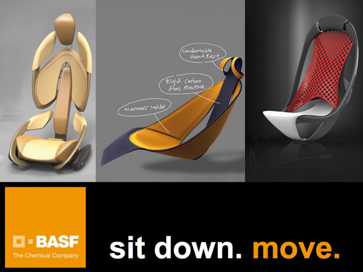 BASF 'Sit down. Move.' seat design competition: the winners