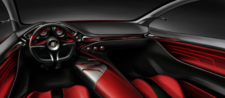 Ied alfa romeo gloria concept car body design for Ied interior design
