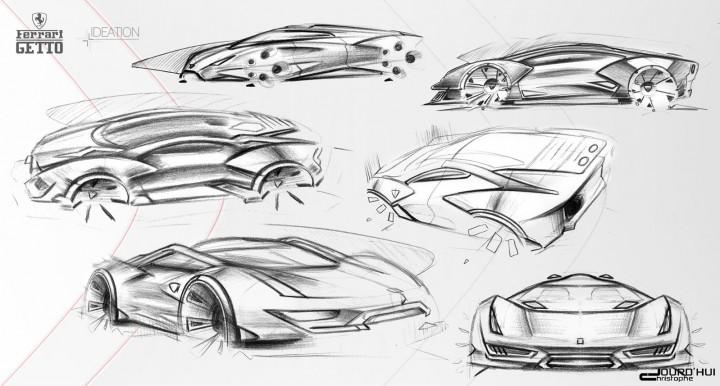 Ferrari Getto Concept Car Body Design