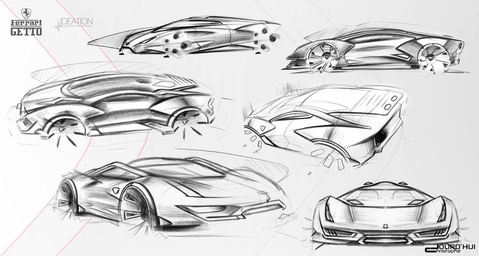 LaFerrari – sketches | Gadgetfreak :: Not Just Tech |Ferrari Design Sketches