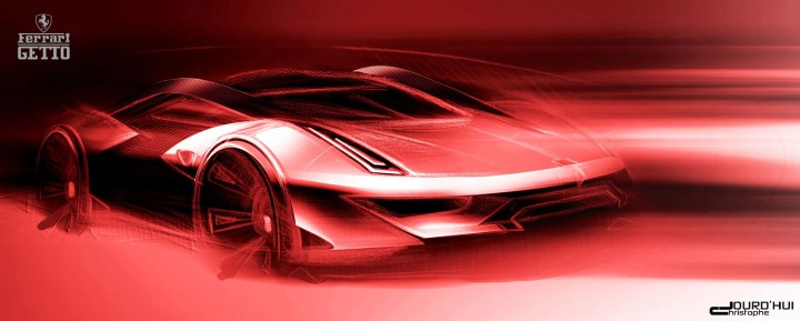 Ferrari Getto Concept Design Sketch