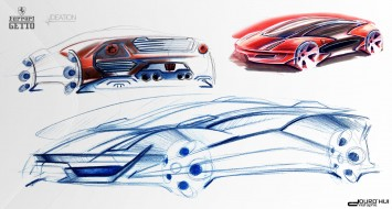 Ferrari Getto Concept Design Sketches