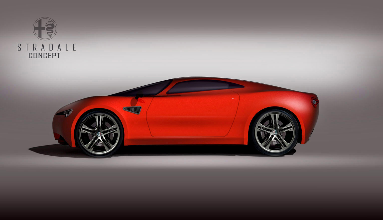 alfa romeo stradale concept car body design. Black Bedroom Furniture Sets. Home Design Ideas