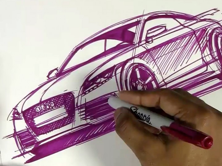 Sketching an Audi TT Sport Coupe
