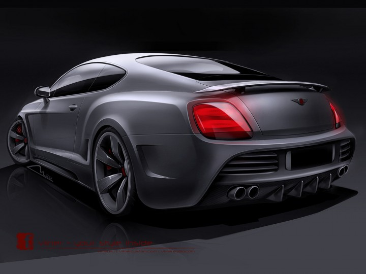 Bentley Continental GT by Vilner: preview sketches